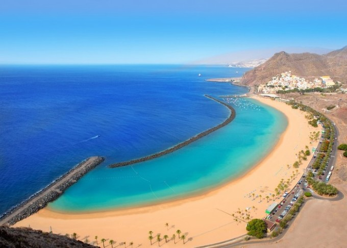 Beach Las Teresitas in Santa cruz de Tenerife north