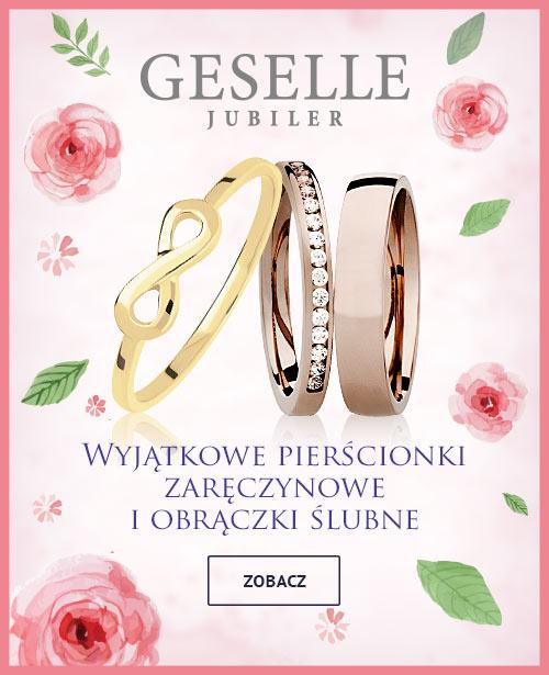 Pierścionki zaręczynowe z brylantami, Obrączki ślubne - GESELLE Jubiler