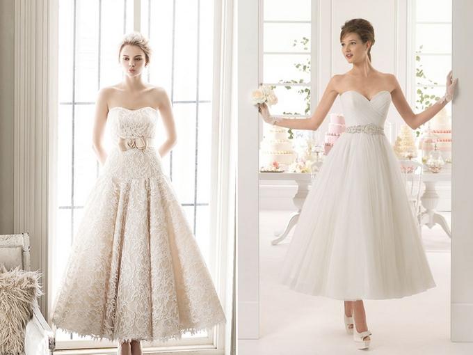 50680f377a Krótkie suknie ślubne pięknie prezentują się bez ramiączek. Dzięki temu  podkreślisz szczupłe ramiona i dekolt. Ta subtelna propozycja nie tylko  podkreśli ...