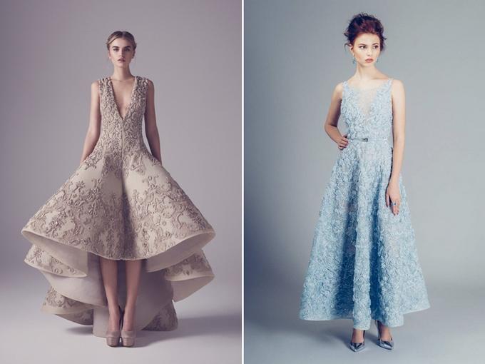 0fcea98032 ... detalem zdobiącym suknie ślubne są mięsiste hafty i suknie z głęboko  wyciętym dekoltem. Podkreślenie dekoltu sprawi