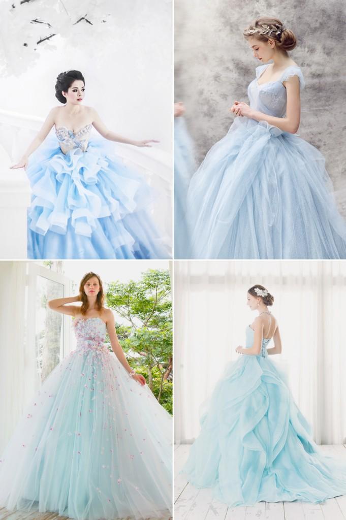 Genialny niebieska suknia ślubna | Bridelle SH06
