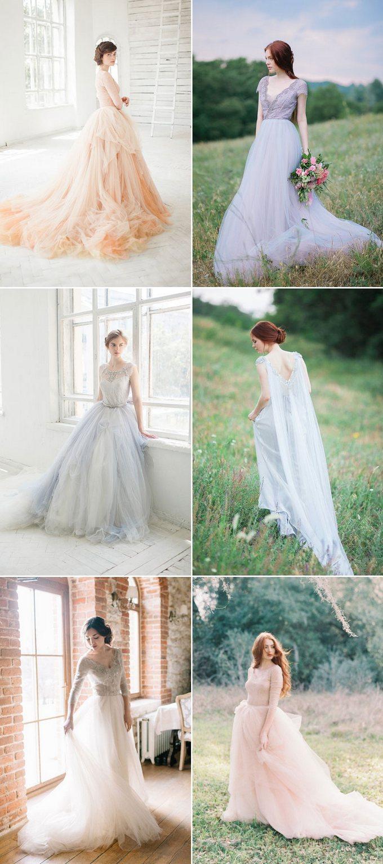 a78ffd83823de2 To, co charakteryzuje te suknie, to nieco za długa spódnica. Daje to  wrażenie, jakby Panna Młoda unosiła się nad ziemią w cudownym lekkim obłoku.