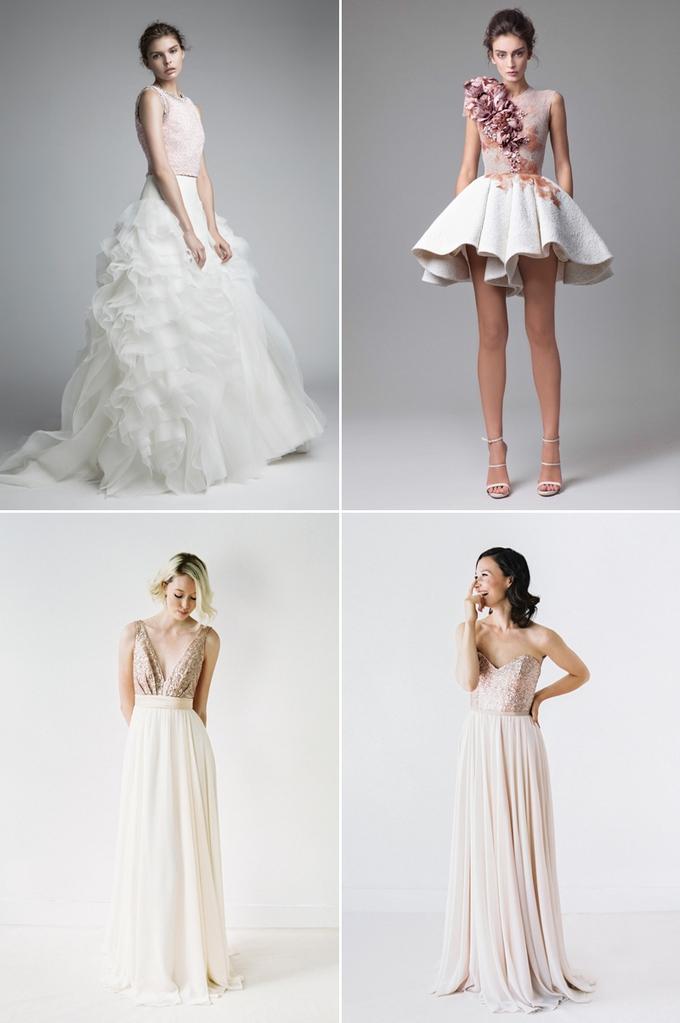 2d9bcaff31 Najchętniej suknie zdobione są w części górnej. To dlatego łatwo tu  wprowadzić kolor