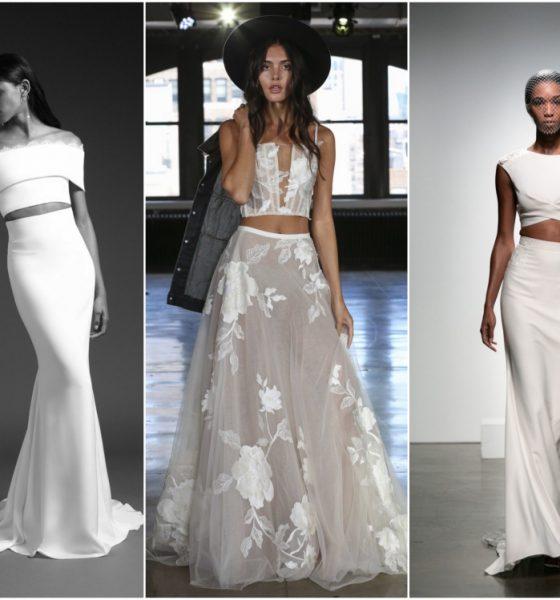 MODA TRENDY 2019 / Dwuczęściowe suknie