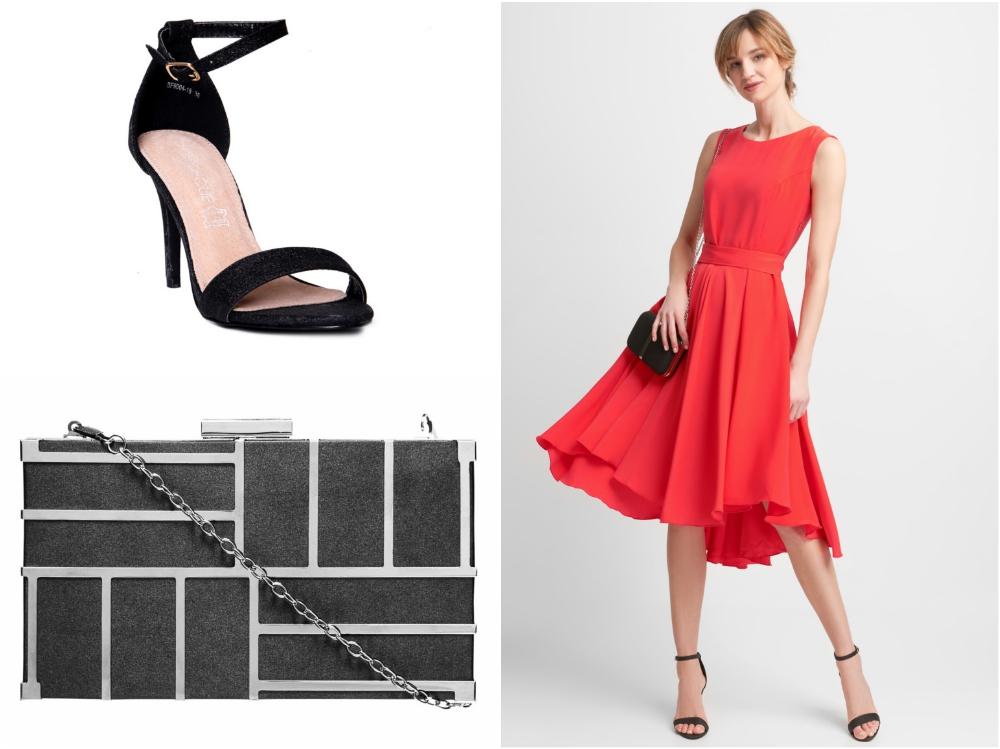 5d90c74ad0 ... która przepięknie układa się podczas ruchu oraz czarne akcenty w  postaci butów i torebki są doskonałą propozycją na eleganckie wesele w  stylu miejskiego ...