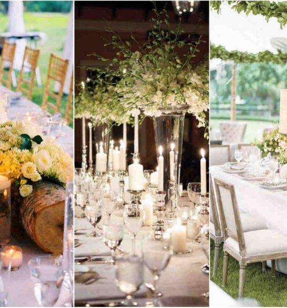 Świece na jesiennych stołach