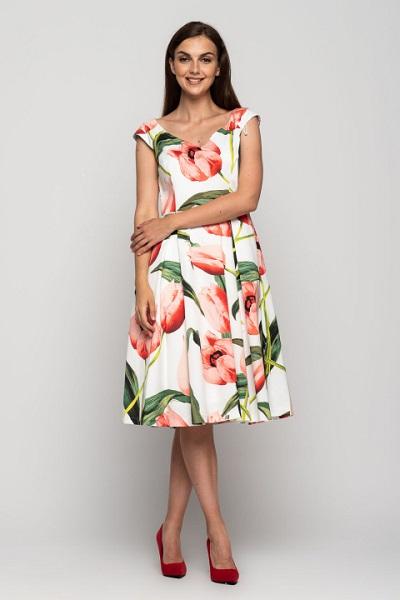 Sukienki wiosna Bialcon