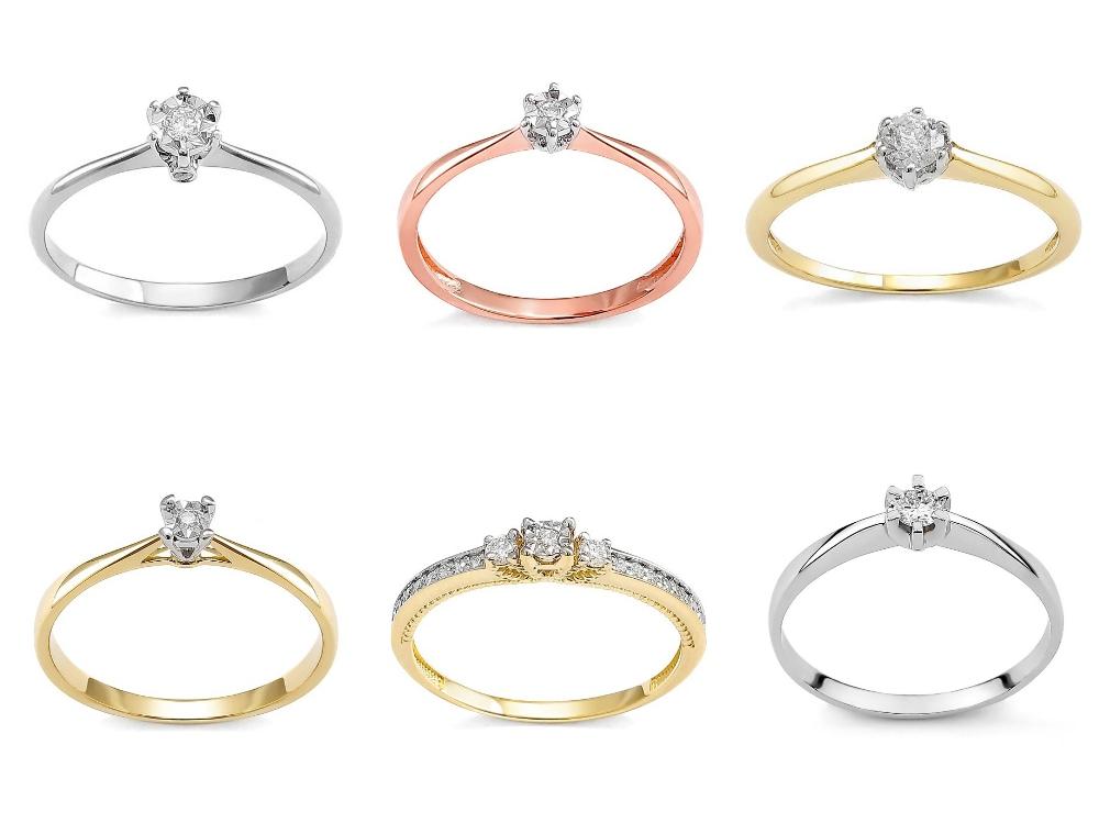 romantyczny pierścionek zaręczynowy Diamor