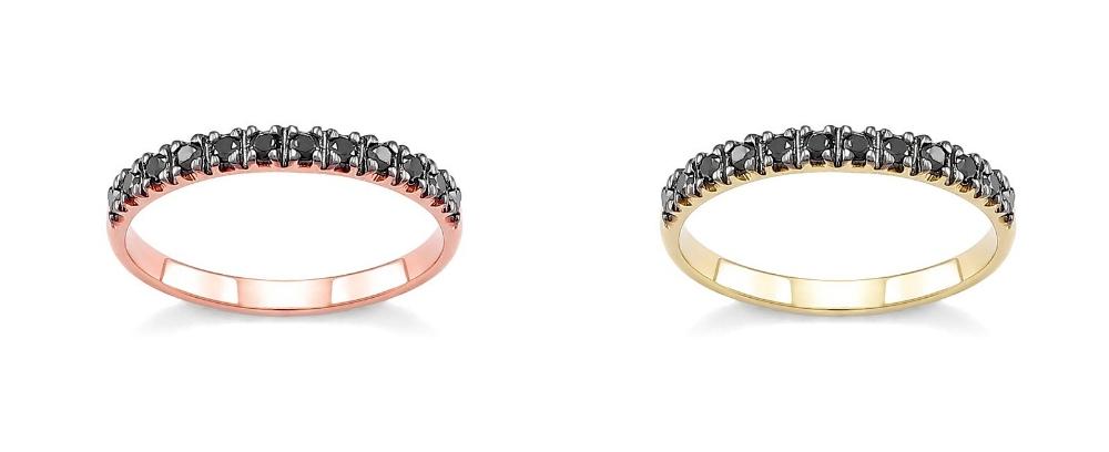 pierścionek zaręczynowy z czarnym brylantem Diamor