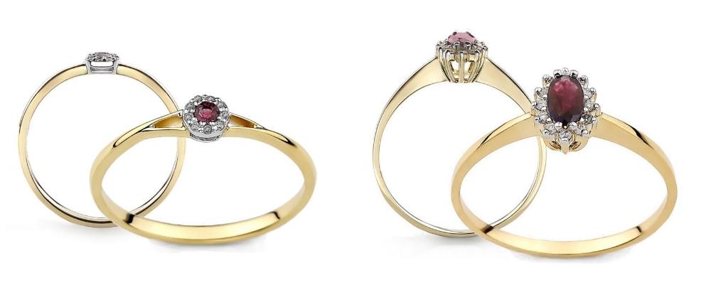 pierścionek zaręczynowy z rubinem Diamor