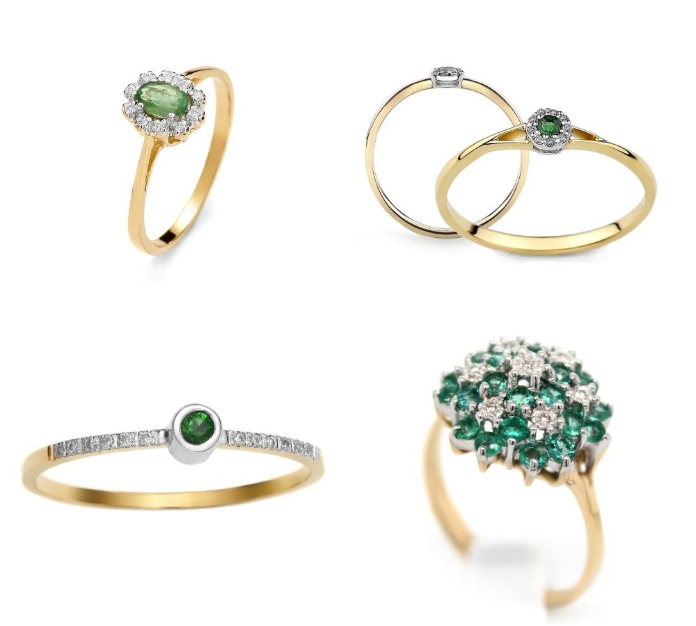 pierścionek zaręczynowy ze szmaragdem Diamor