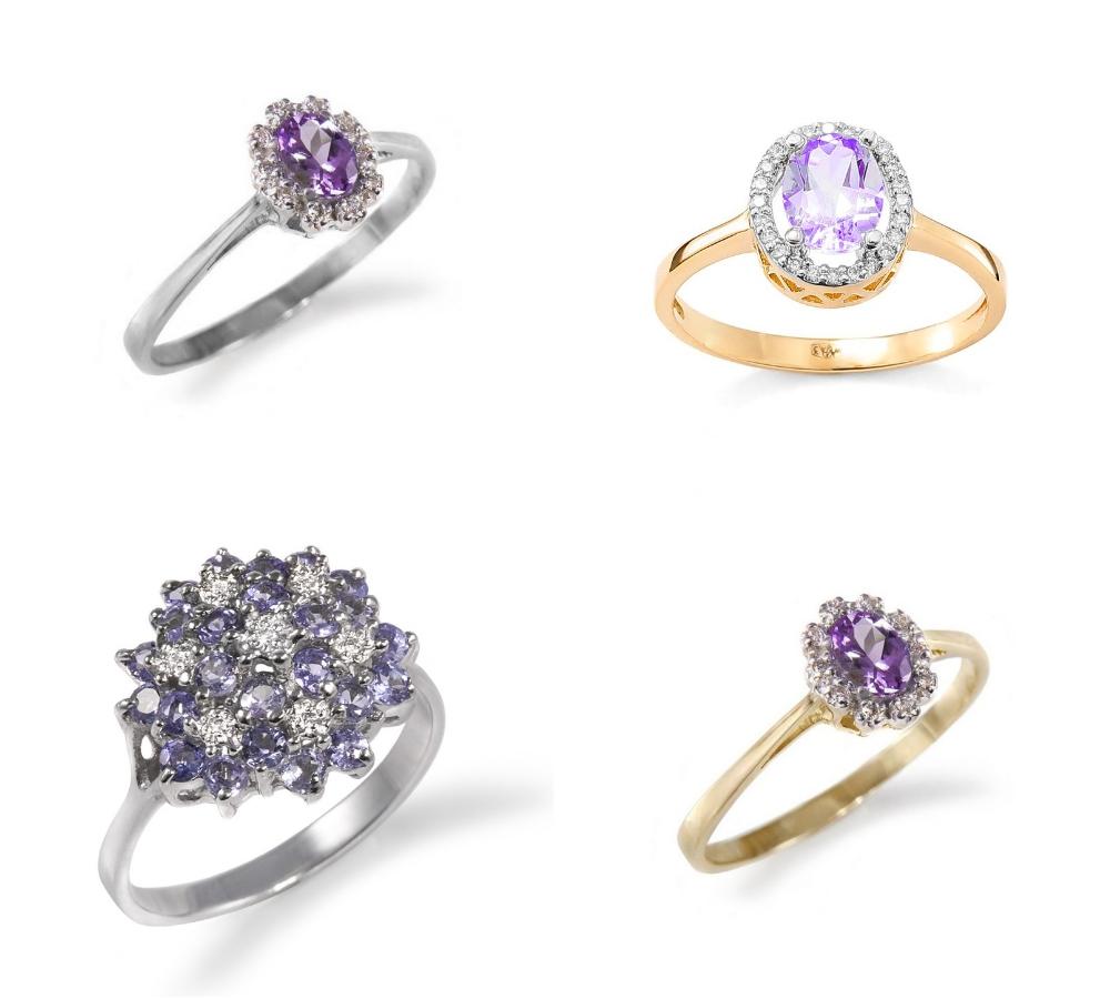 pierścionek zaręczynowy z tanzanitem Diamor