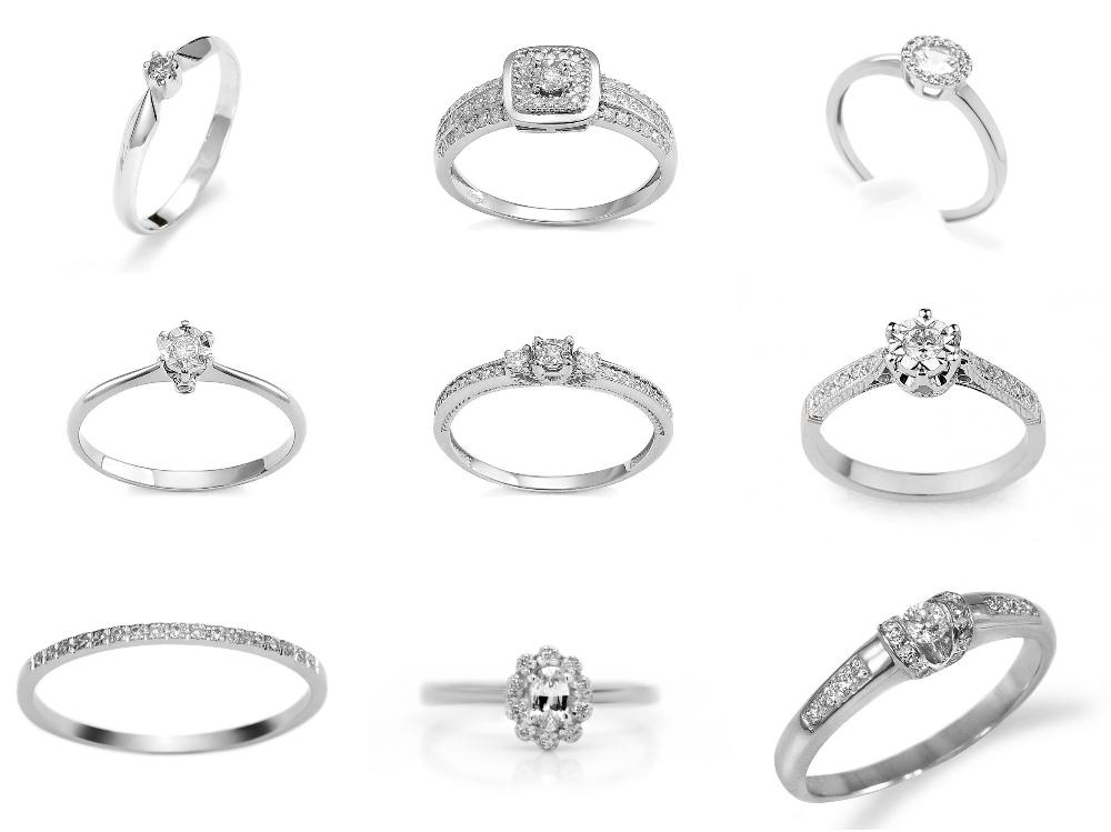 pierścionek zaręczynowy z brylantem Diamor