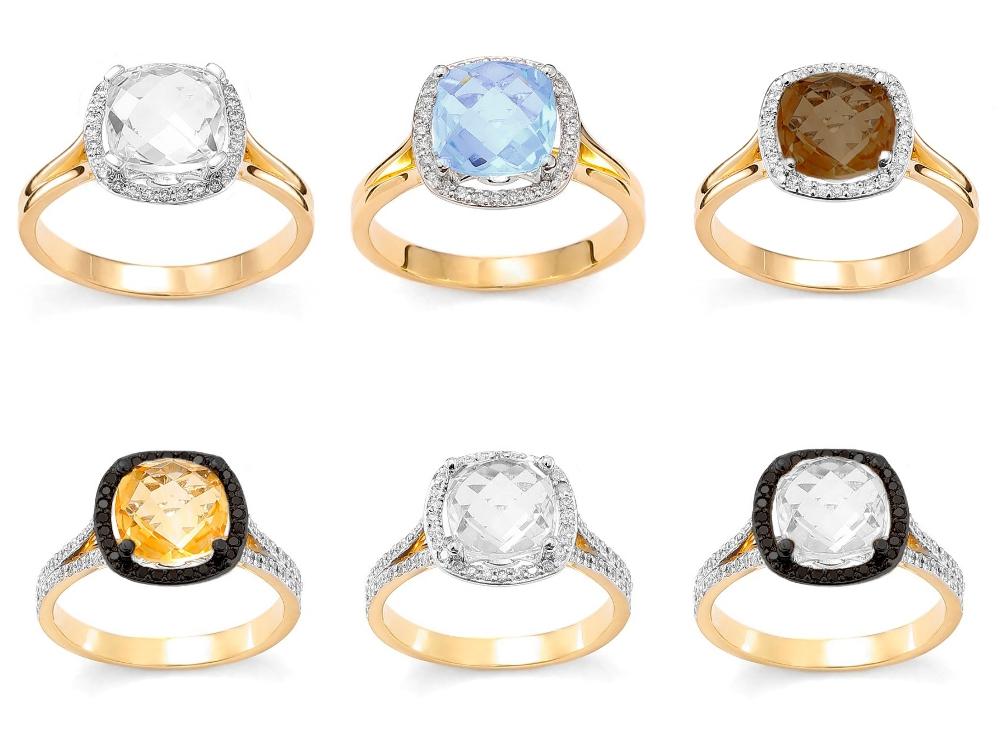 pierścionek zaręczynowy z kamieniem szlachetnym Diamor