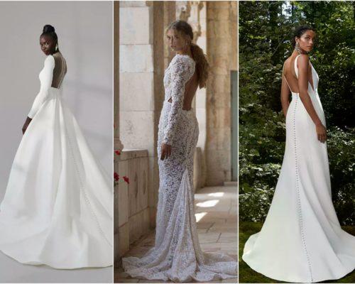 New York Bridal Week // Odsłonięte plecy